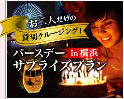 お二人だけの貸切クルージングバースデーサプライズプラン in 横浜
